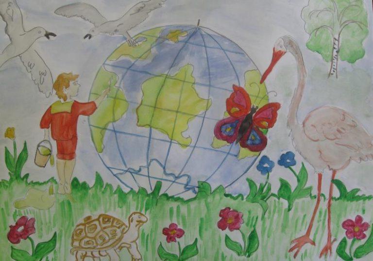 Рисунки зеленая планета глазами детей на конкурс