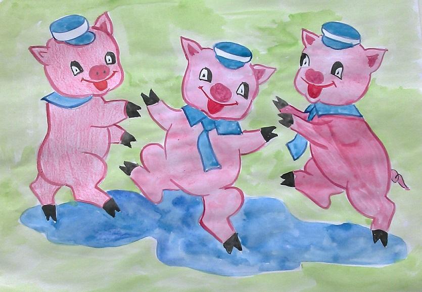 нарисовать три поросенка картинки цветные интересно шоу бизнес