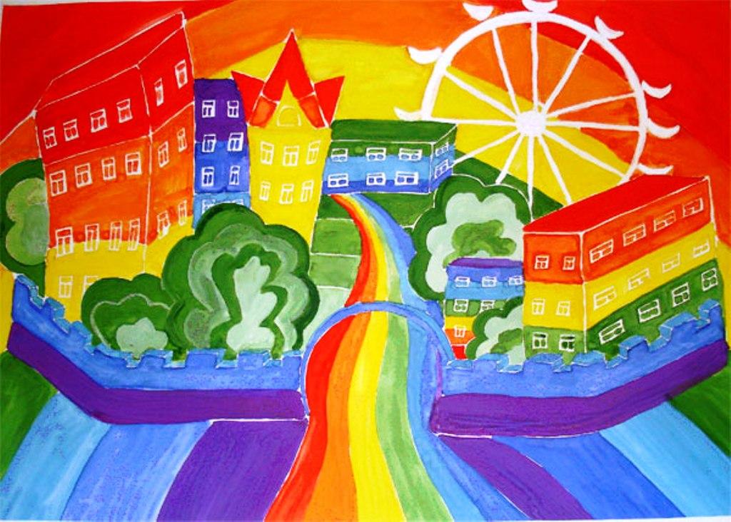 нарисовать город моей мечты картинки его